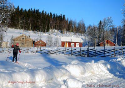 Vinterbild over Fröå